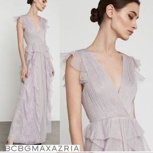 Purple lavender mist BCBG Maxazaria dress gown 0